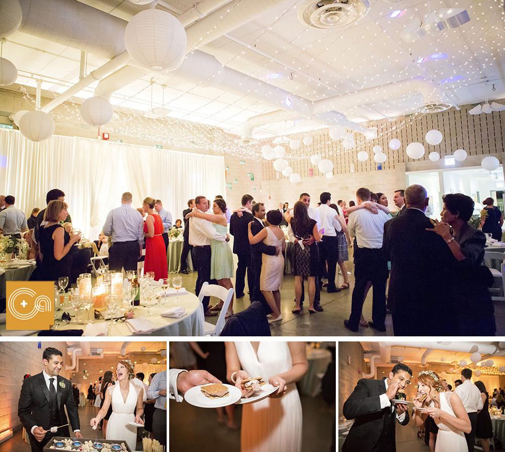 kat and nate u2019s ignite glass studio wedding photos