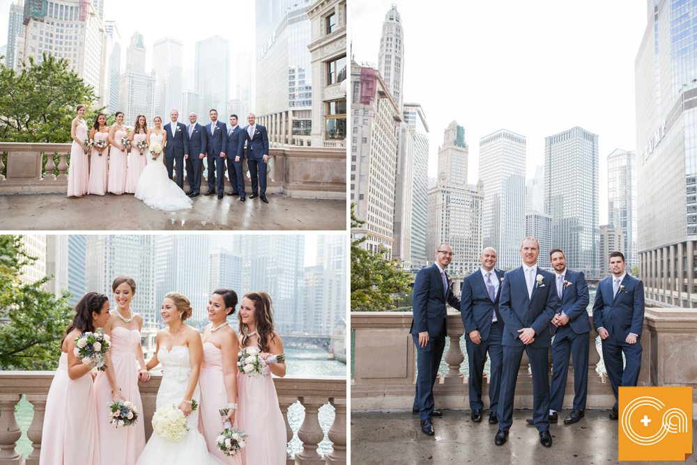 Michigan Avenue Bridge Wedding Photos